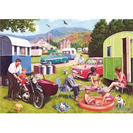 Caravan Outings 2 x 500 Piece Jigsaw Puzzle Thumbnail Image 1