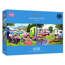 Caravan Outings 2 x 500 Piece Jigsaw Puzzle thumbnail