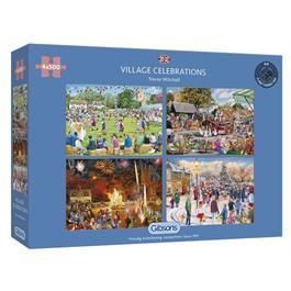 Village Celebrations 4 x 500 Piece Jigsaw Puzzle thumbnail