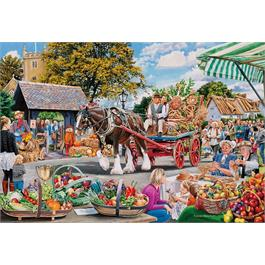 Village Celebrations 4 x 500 Piece Jigsaw Puzzle Thumbnail Image 2