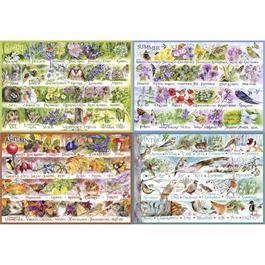 Woodland Seasons 2000 Piece Jigsaw Puzzle thumbnail