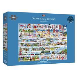 Cream Teas & Queuing 2000 Piece Jigsaw Puzzle thumbnail