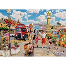 Clocktower Market 1000 Piece Jigsaw Puzzle Thumbnail Image 1