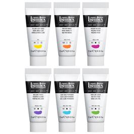 Liquitex Heavy Body Acrylic Vibrant Set 6 x 22ml Thumbnail Image 1