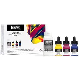 Liquitex Pouring Technique Primary Colours Set Thumbnail Image 5