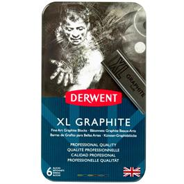 Derwent XL Graphite 6 Tin Thumbnail Image 1