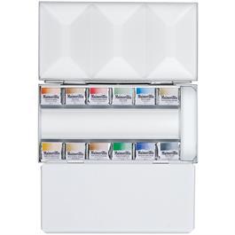 Maimeri Blu Watercolour Paint Metal Box Set With 12 Half Pans thumbnail