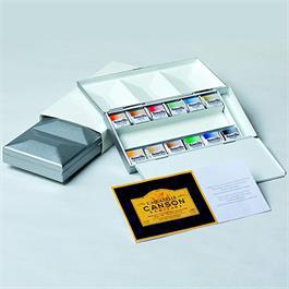 Maimeri Blu Watercolour Paint Metal Box Set With 12 Half Pans Thumbnail Image 1