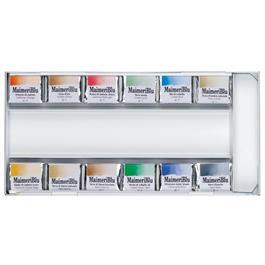 Maimeri Blu Watercolour Paint Metal Box Set With 12 Half Pans Thumbnail Image 3
