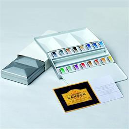 Maimeri Blu Watercolour Paint Metal Box Set With 16 Half Pans Thumbnail Image 1