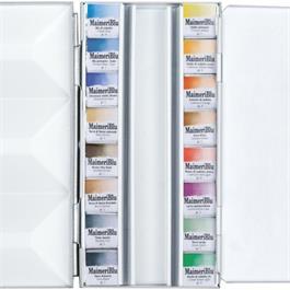 Maimeri Blu Watercolour Paint Metal Box Set With 16 Half Pans Thumbnail Image 3