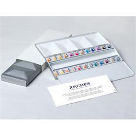Maimeri Blu Watercolour Paint Metal Box Set With 24 Half Pans Thumbnail Image 0