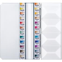 Maimeri Blu Watercolour Paint Metal Box Set With 24 Half Pans Thumbnail Image 1