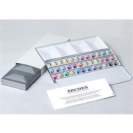 Maimeri Blu Watercolour Paint Metal Box Set With 36 Half Pans thumbnail