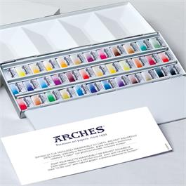 Maimeri Blu Watercolour Paint Metal Box Set With 36 Half Pans Thumbnail Image 3