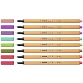STABILO Point 88 Fineliners Wallet Of 8 New Colours Thumbnail Image 1