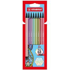 STABILO Pen 68 Wallet Of 8 New Colours Thumbnail Image 0