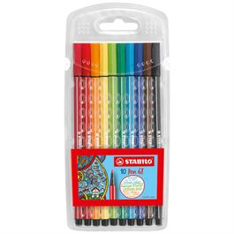 STABILO Pen 68 Wallet Of 10 Fibre Tipped Pens thumbnail