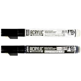 Pebeo Acrylic Marker Set White & Black 1.2mm Thumbnail Image 1