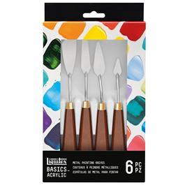 Liquitex Basics Metal Painting Knives Set Of 6 Thumbnail Image 1
