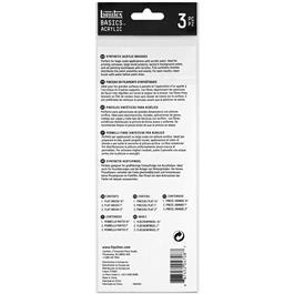 Liquitex Basics Brush Set Of 3 Synthetic Spalters Thumbnail Image 3