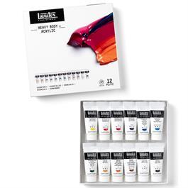 Liquitex Heavy Body Acrylic Essentials Set 12x22ml Thumbnail Image 1