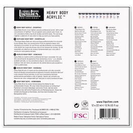 Liquitex Heavy Body Acrylic Essentials Set 12x22ml Thumbnail Image 4
