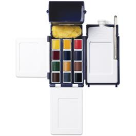 Winsor & Newton Professional Watercolour Field Box 12 Half Pans Thumbnail Image 1