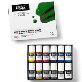 Liquitex Professional Soft Body Acrylic Essentials Set 12x22ml Thumbnail Image 2