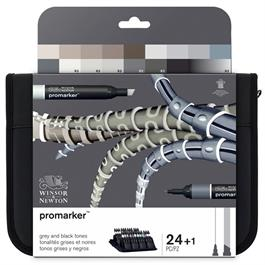 Winsor & Newton ProMarker Black & Greys 24 Set thumbnail