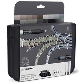 Winsor & Newton ProMarker Black & Greys 24 Set Thumbnail Image 5