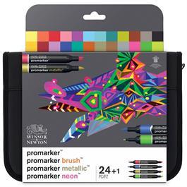 Winsor & Newton ProMarker Assorted Marker Wallet of 24 thumbnail