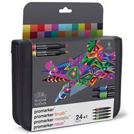 Winsor & Newton ProMarker Assorted Marker Wallet of 24 Thumbnail Image 5
