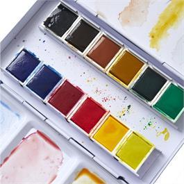Pebeo Watercolour Pocket Metal Box 12 Half Pans Thumbnail Image 4