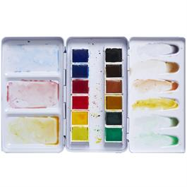 Pebeo Watercolour Pocket Metal Box 12 Half Pans Thumbnail Image 2