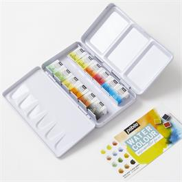 Pebeo Watercolour Pocket Metal Box 12 Half Pans Thumbnail Image 1