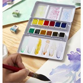Pebeo Watercolour Pocket Metal Box 12 Half Pans Thumbnail Image 5