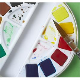 Pebeo Watercolour Classic 12 Half Pan Round Metal Tin Thumbnail Image 2