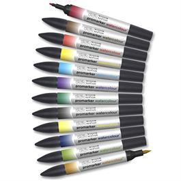 Winsor & Newton Promarker Watercolour Basic Set Of 12 Thumbnail Image 3