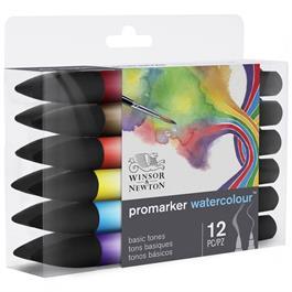 Winsor & Newton Promarker Watercolour Basic Set Of 12 Thumbnail Image 4