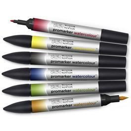 Winsor & Newton Promarker Watercolour Basic Set Of 6 Thumbnail Image 3