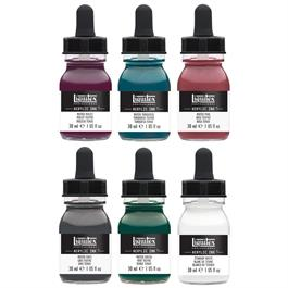 Liquitex Acrylic Ink Set Muted Collection 6x30ml Thumbnail Image 1