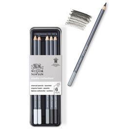Winsor & Newton Charcoal Pencil Tin Of 6 Thumbnail Image 2