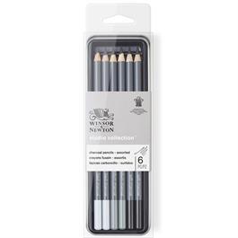 Winsor & Newton Charcoal Pencil Tin Of 6 Thumbnail Image 4