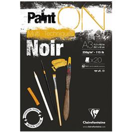 Clairefontaine Paint On Multi Technique Black Pads 250gsm thumbnail