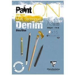 Paint On Pad Denim Blue 15 Sheets 250gsm A4 thumbnail