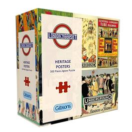 TFL Heritage Posters 500 Piece Gift Jigsaw Puzzle thumbnail