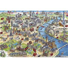 London Landmarks 500 Piece Gift Jigsaw Puzzle Thumbnail Image 1