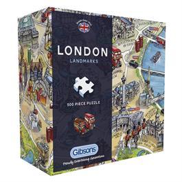 London Landmarks 500 Piece Gift Jigsaw Puzzle Thumbnail Image 0