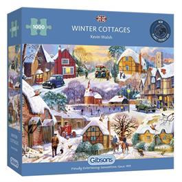 Winter Cottages 1000 Piece Jigsaw Puzzle thumbnail